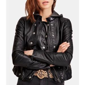 NEW Free People Vegan Leather Moto Jacket